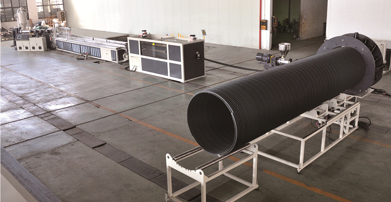 Steel Reinforced Spirally Wound PE Drainage Pipe Extrision Line