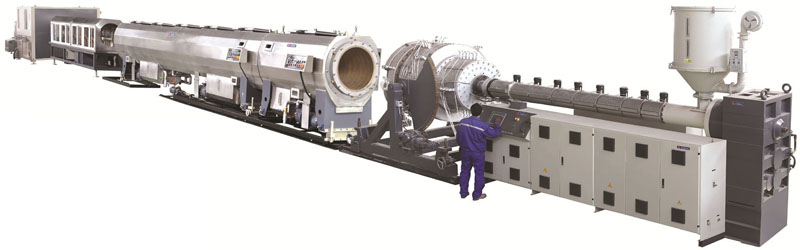 PE water gas pipe production line