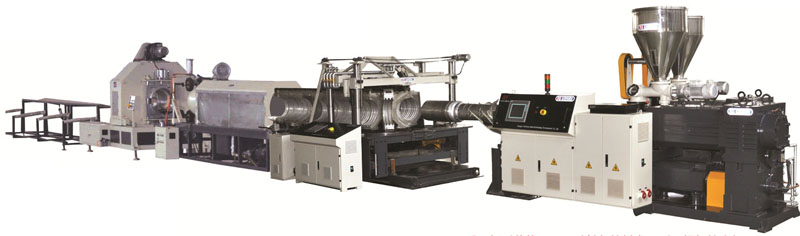 HDPE / PP double wall corrugated pipe production line