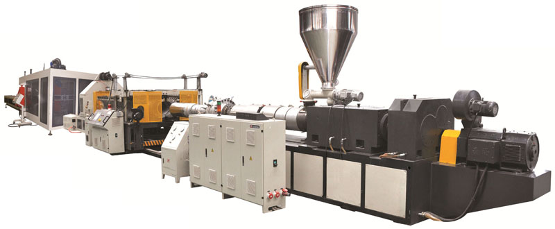 UPVC double-wall corrugated pipe production line