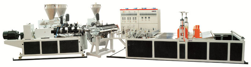 PVC roofing tile production line
